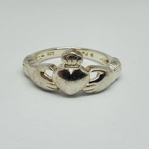 Sterling Silver Claddagh Ring RJ
